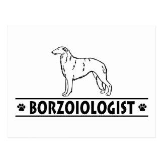 Humorous Borzoi Dog Postcard