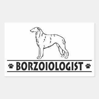 Humorous Borzoi Dog Rectangle Sticker