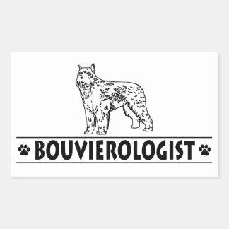 Humorous Bouvier des Flandres Rectangular Stickers