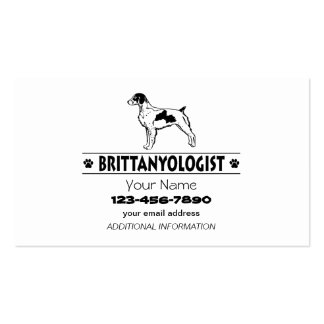 Humorous Brittany Pack Of Standard Business Cards