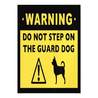 Humorous Chihuahua Guard Dog Warning Magnetic Invitations