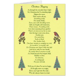 humorous christmas poem robin and xmas tree cards