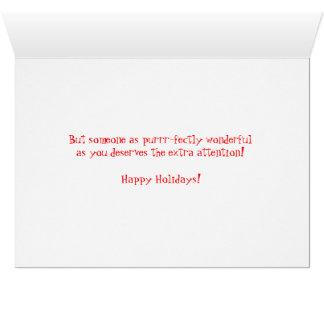 Humorous Christmas Santa Kitty Greeting Card
