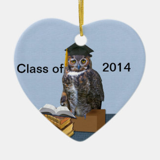 Humorous Class of 2014 Graduation Owl Ornaments