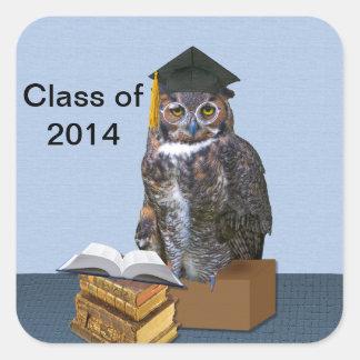 Humorous Class of 2014 Graduation Owl Stickers