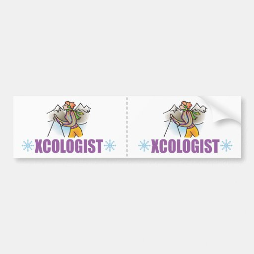 Humorous Cross Country Skier Bumper Stickers