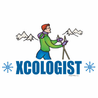 Humorous Cross Country Skiing Guy Acrylic Cut Outs