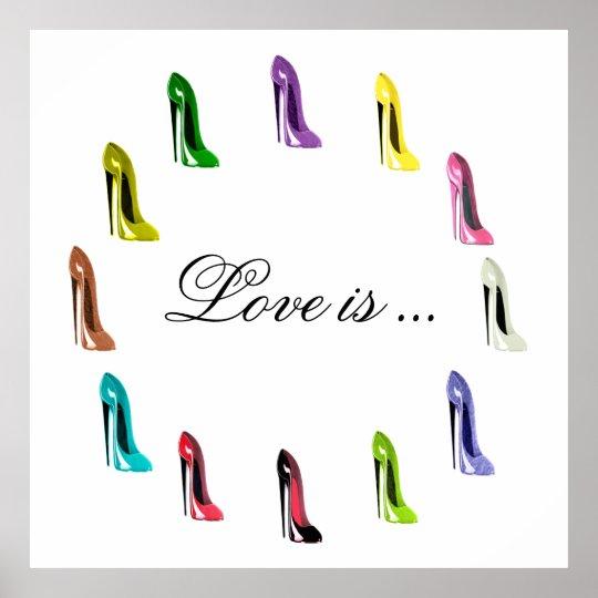 Humorous Customisable Stilettto Shoe Art Poster
