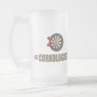 Humorous Darts Frosted Glass Beer Mug