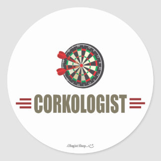 Humorous Darts Round Sticker