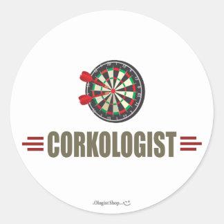 Humorous Darts Classic Round Sticker