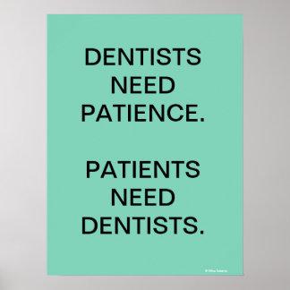 Humorous Dentist / Dental Surgery Slogan Poster