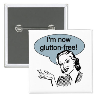 Humorous Dieting Glutton Free 15 Cm Square Badge