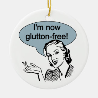 Humorous Dieting Glutton Free Christmas Ornament