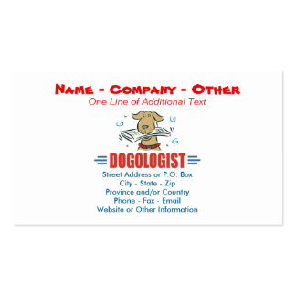 Humorous Dog Lovers Pack Of Standard Business Cards