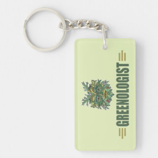 Humorous Environmentalist Single-Sided Rectangular Acrylic Key Ring