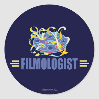 Humorous Film Round Stickers