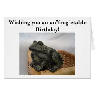 Humorous Frog Card