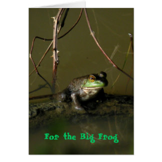 Humorous Frog Fathers' Day Card