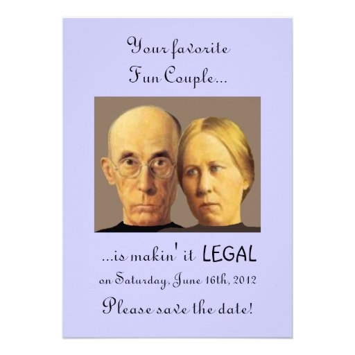 Humorous Fun Couple Save-The-Date Invitations