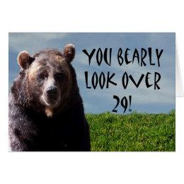 Funny animal birthday cards invitations zazzle humorous funny bear animal birthday card bookmarktalkfo Gallery
