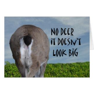 Humorous Funny Deer Butt Ass Anniversary Greeting Card