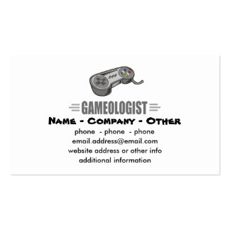Humorous Gaming Pack Of Standard Business Cards