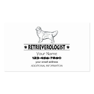 Humorous GOLDEN RETRIEVER Business Card Templates
