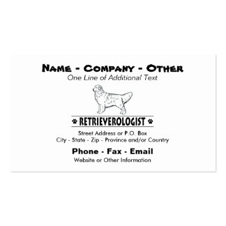 Humorous GOLDEN RETRIEVER Pack Of Standard Business Cards