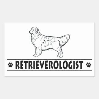 Humorous GOLDEN RETRIEVER Rectangular Sticker