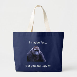 humorous gorilla products large tote bag