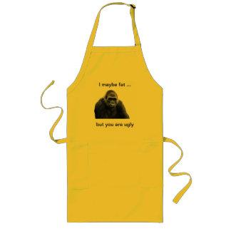 humorous gorilla products long apron