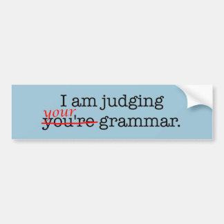 Humorous Grammar Police Bumper Sticker