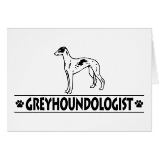 Humorous GREYHOUND DOGS Note Card