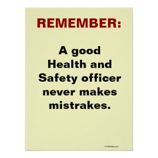 Humorous Health and Safety Slogan