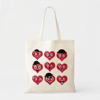 Humorous Hearts Tote Bag
