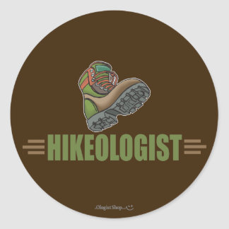 Humorous Hiking Classic Round Sticker