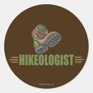 Humorous Hiking Round Sticker