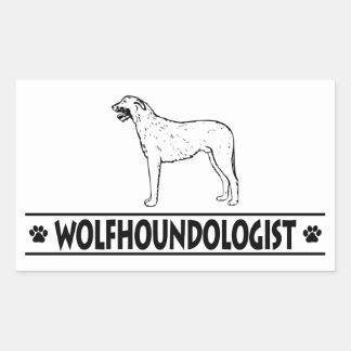 Humorous Irish Wolfhound Rectangular Sticker