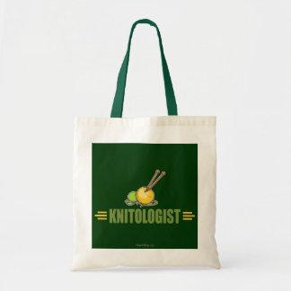 Humorous Knitting Budget Tote Bag