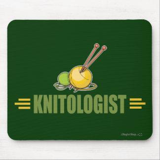 Humorous Knitting Mouse Pad