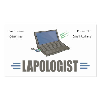 Humorous Laptop Computer Pack Of Standard Business Cards