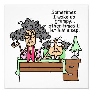 Humorous Let Grumpy Sleep Personalized Invites