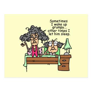Humorous Let Grumpy Sleep Postcard