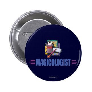 Humorous Magician 6 Cm Round Badge
