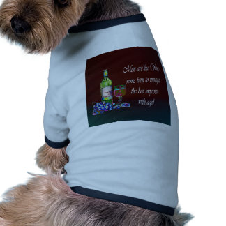 Humorous 'Men are like Wine' Modern Wine Art Gifts Ringer Dog Shirt