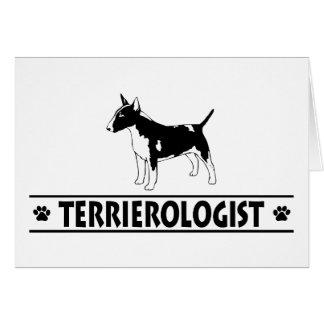 Humorous Miniature Bull Terrier Greeting Card
