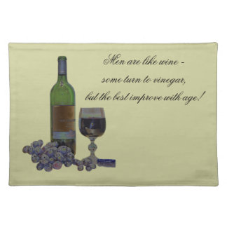 Humorous Modern Wine American MoJo Placemats