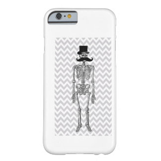 Humorous Mustache on Skeleton Grey iPhone 6 case Barely There iPhone 6 Case