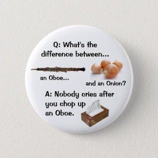 Humorous Oboe Joke Button